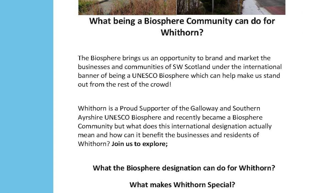 What the Biosphere designation can do for Whithorn?
